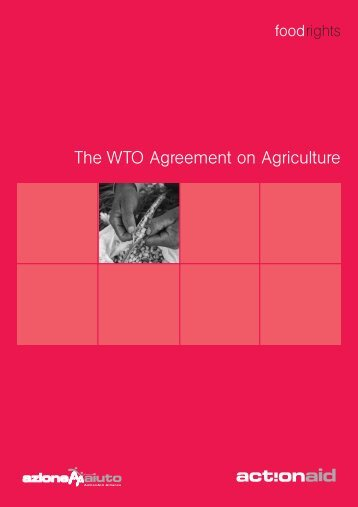 The WTO Agreement on Agriculture (PDF) - ActionAid