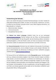 Informationen zum Ablauf der zentralen Abschlussprüfungen in der ...