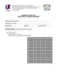 geometría analítica guía para el examen ordinario - Instituto ...