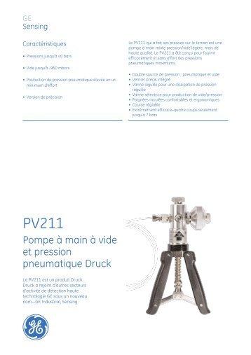 Pompe à main à vide et pression pneumatique ... - RE-EL & Services