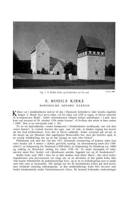 S. BODILS KIRKE - Nationalmuseet