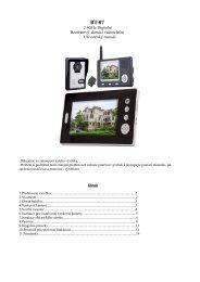 Bezdrátový videotelefon BT-07 - návod k obsluze - Deramax.cz