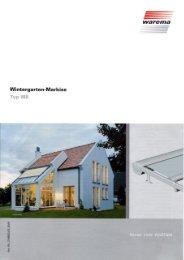 Wintergarten-Markise Typ W8