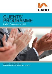 to download the full programme - LABC
