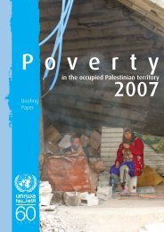 Poverty in the OPT, 2007 - OIC