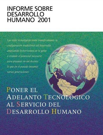 INFORME SOBRE DESARROLLO HUMANO 2001 Poner el