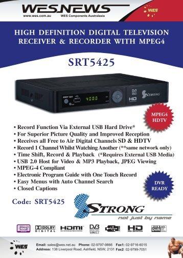 SRT5425 Flyer PDF - WES Components