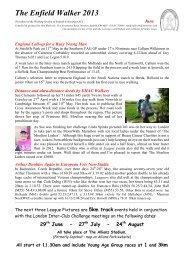 The Enfield Walker 2013 - Suffolk County Athletics Association