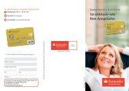 So exklusiv wie Ihre Ansprüche - Santander Consumer Bank