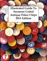 Illustrated Guide To Seymour Coded Antique Poker Chips 2011 ...