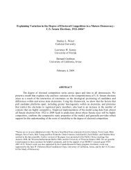 Explaining Variation in the Degree of Electoral Competition in a ...
