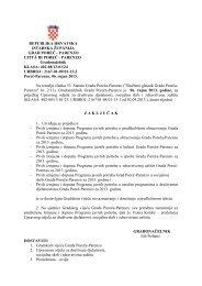 Prve izmjene i dopune programa javnih potreba za Grad Poreč u ...