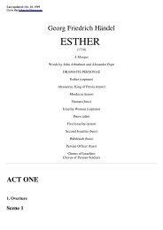 HANDEL Esther - libretto - Fulmini e Saette