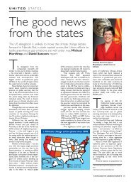 Environmental Finance Article on the Good News from the States