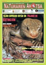 Naturaren Ahotsa: 15.589 especies están en peligro de extinción