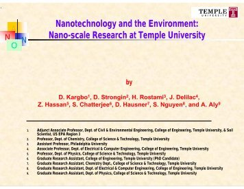 Nanotechnology and the Environment: Nano-scale Research at ...
