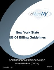 Comprehensive Medicaid Case Management (CMCM) - eMedNY