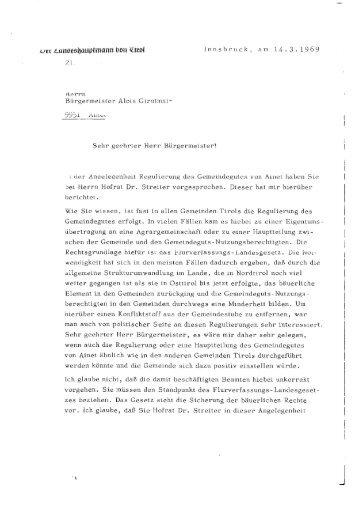Innsbruck, am 14.3.1969 - Liste Fritz