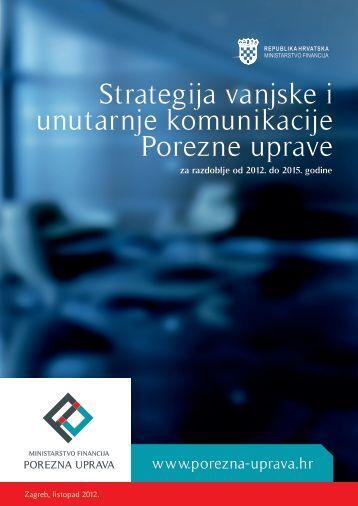 strategija vanjske i unutarnje komunikacije ... - Porezna uprava