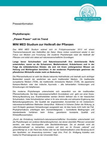 Phytotherapie MINI MED Studium - Dolomitenstadt.at