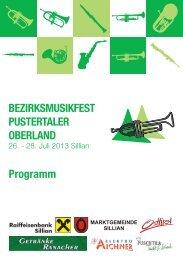 Oberländer Musikfest - Marktgemeinde Sillian