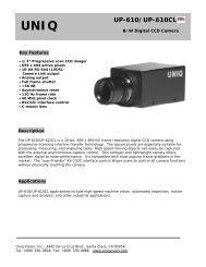 UNIQ UP-610/UP-610CL - Image Labs International