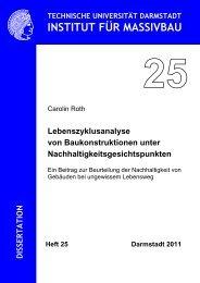 Heft 25 - Institut für Massivbau - Technische Universität Darmstadt