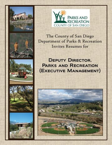 The County of San Diego Department of Parks & Recreation Invites ...