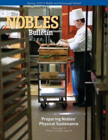 NO BLES Bul le tin - Noble and Greenough School