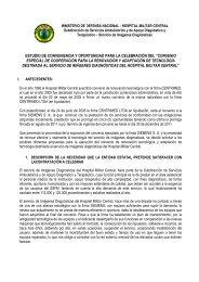 estudio jurídico y técnico radiología - Hospital Militar