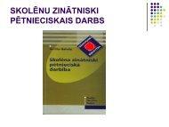 Ieteikumi skolēnu zinātniski pētniecisko darbu izstrādei - EVF