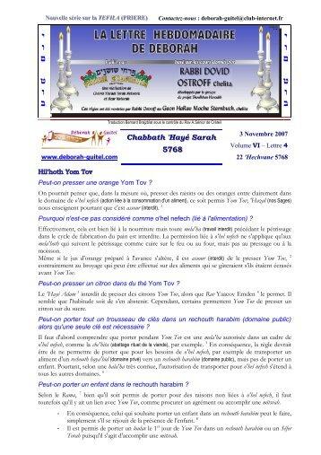 Volume VI - lettre n°4 - Association Deborah Guitel