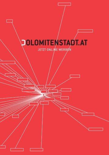 Jetzt Online werben - Dolomitenstadt.at