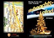 Montag, 26. Dez. 2011 17.00 - 21.00 Uhr Alt ... - Dolomitenstadt.at