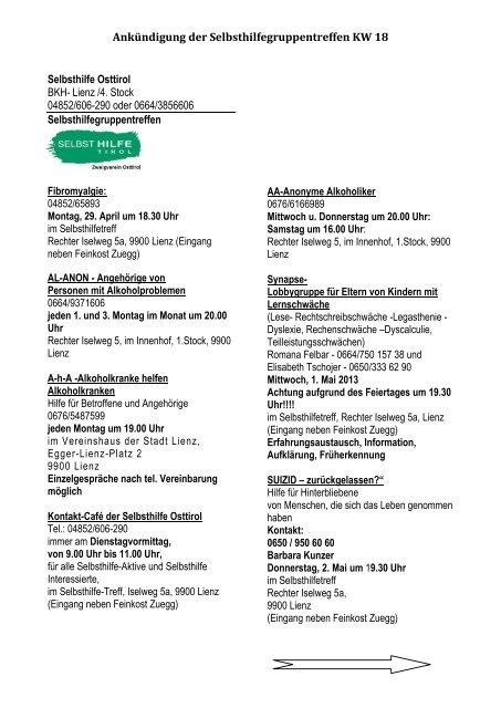 Treffen in Osttirol - Thema auf volunteeralert.com