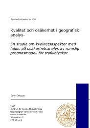 Kvalitet och osäkerhet i geografisk analys- - Institutionen för ...