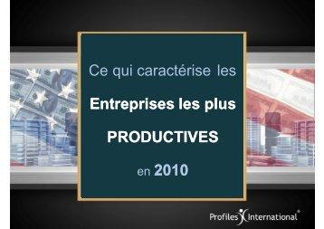 Ce qui caractérise les Entreprises les plus ... - Webagoo.eu