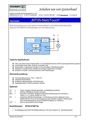 """Schalten wie von Geisterhand """"MT05-NetzTouch"""" - EDISEN ..."""