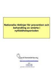 Nationella riktlinjer för prevention och behandling av smärta i ...