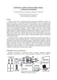 Elektrické a optické vlastnosti mikrovýbojov v poréznych keramikách
