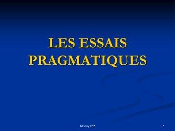 Les essais pragmatiques.pdf - SFES