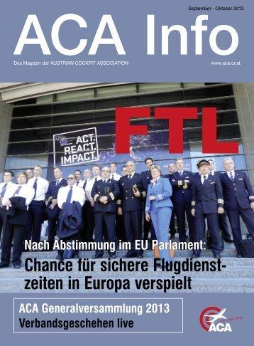 ACA Info September-Oktober 2013 - Austrian Cockpit Association