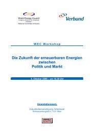 Die Zukunft der erneuerbaren Energien zwischen Politik und ... - WEC