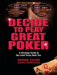 Decide to Play Great Poker: A Strategy Guide to No-Limit Texas ...