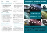 Annual Conference Report 2008 - Glasgow Homelessness Network