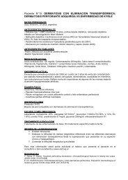 DERMATOSIS CON ELIMINACIÓN TRANSEPIDÉRMICA - Sociedad ...