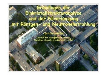 Vorlesungsfolien Nr. 1 (pdf-Format) - Christian-Albrechts-Universität ...