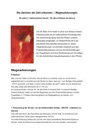 Wegmarkierungen - Pfarre Heilige Familie, Lienz