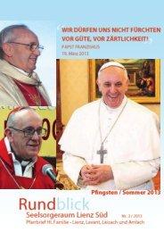 Rundblick Pfingsten/Sommer 2013 - Pfarre Heilige Familie, Lienz