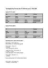 Turnierbericht_2003 - PK Fireball
